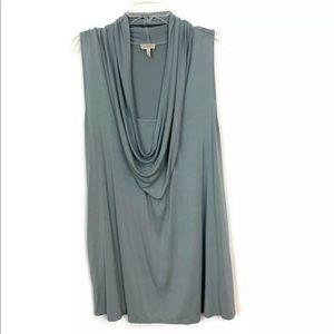 LOGO Lori Goldstein Sleeveless Draped Neck Tunic
